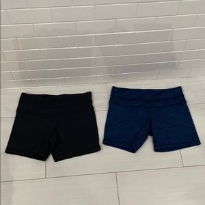 Lululemon short bundle of 2 size 6